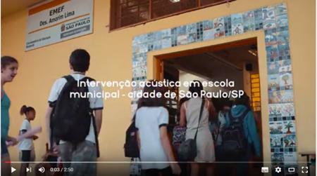 Placo contribui com conforto acústico em escola de São Paulo